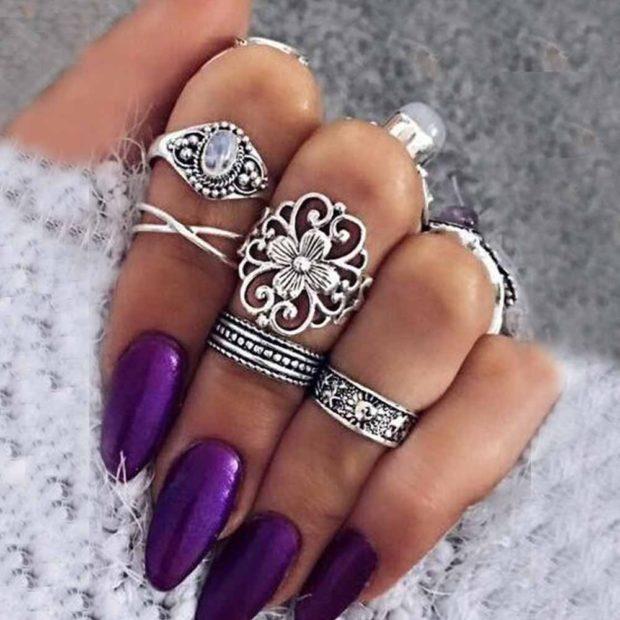 на каком пальце носить кольцо женщине: полька на все пальцы с узорами