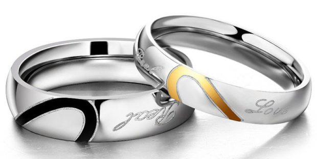 обручальные кольца белое золото с гравировкой