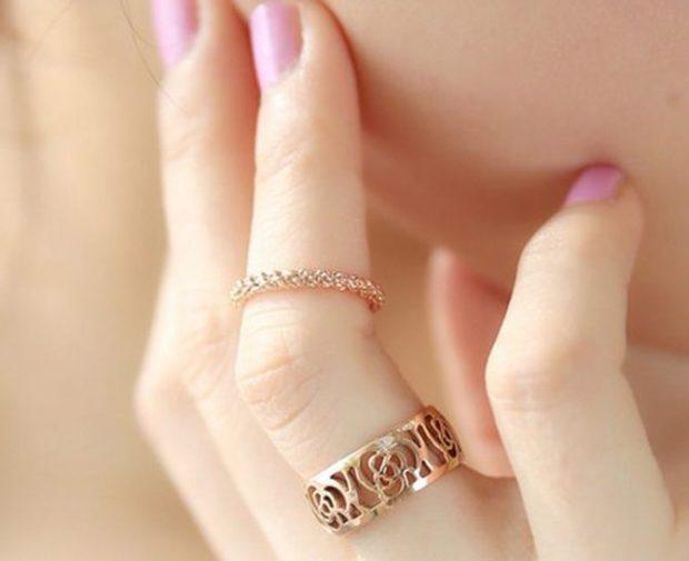 два кольца на одном пальце ажурное