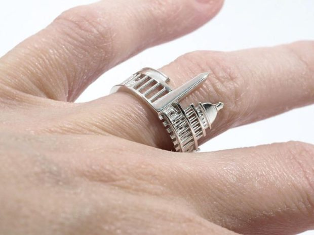 кольцо город серебро
