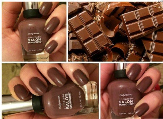 шоколадные ногти