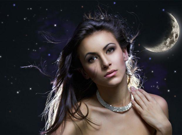 растущая луна и волосы