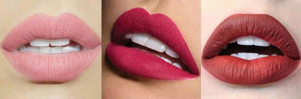 матовые губы персик розовые коричнево-красные