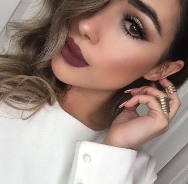 матовые губы коричневые