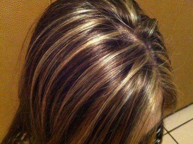 мелирование на каштановые волосы 2018