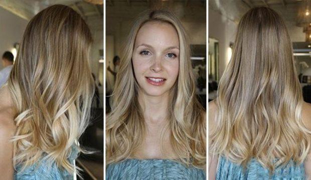 густое мелирование 2018 на светлые волосы