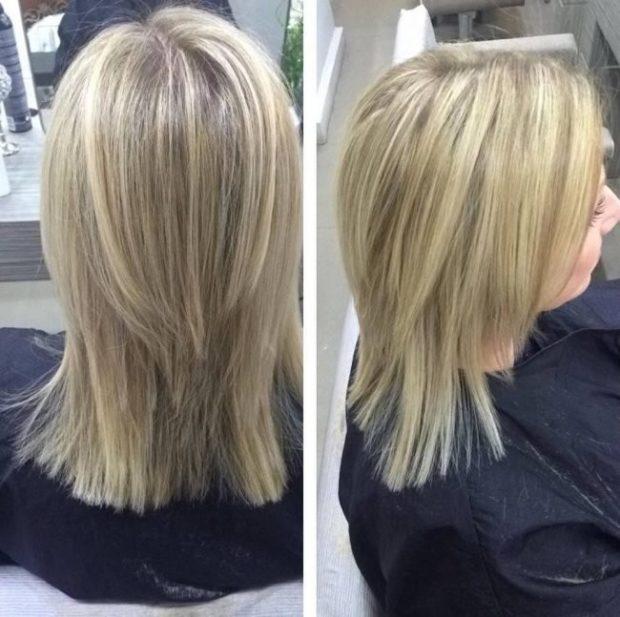 мелирование на светлые волосы 2018
