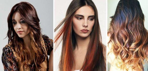 мелирование 2018 омбре на длинные волосы