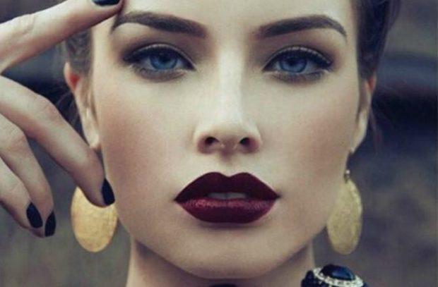 модные брови 2018: густые натуральные темные с плавным углом