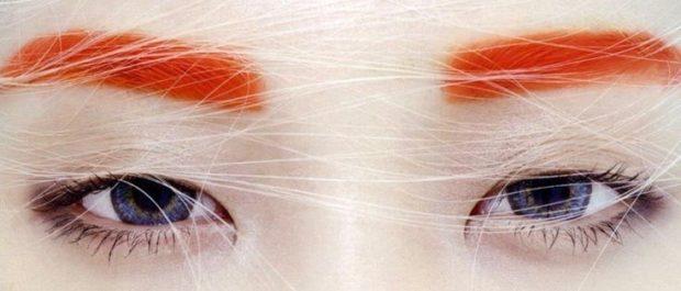 брови 2018 модные тенденции: оранжевые