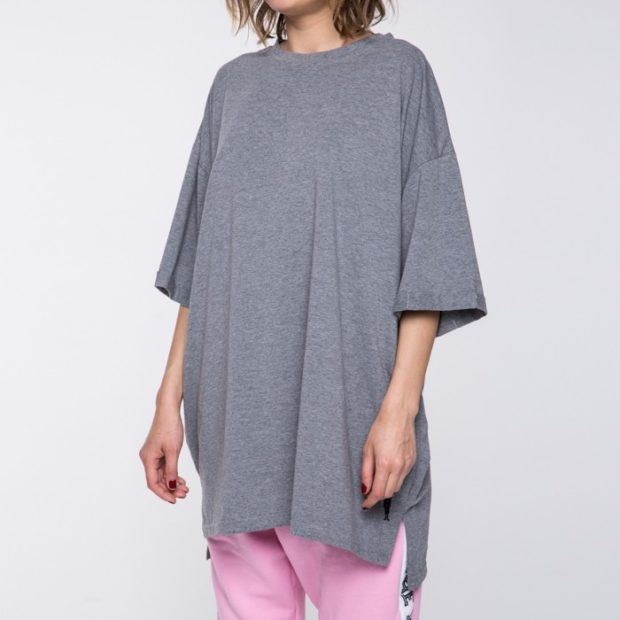 футболки 2019: оверсайз серая