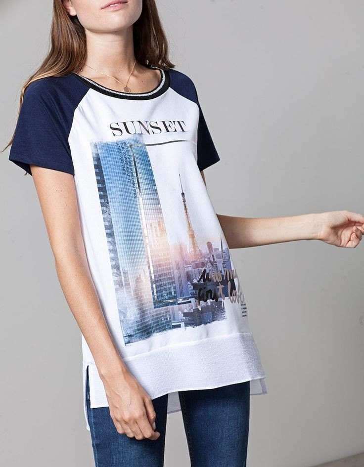 футболки 2019 женские фото: оверсайз с принтом города