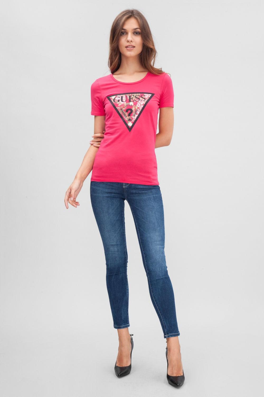 футболки с принтом 2019: розовая