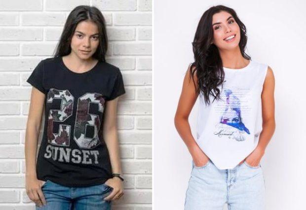 футболки с принтом 2019: черная с цифрами белая