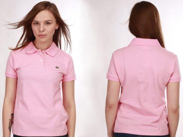 модные футболки 2019 фото: поло розовая