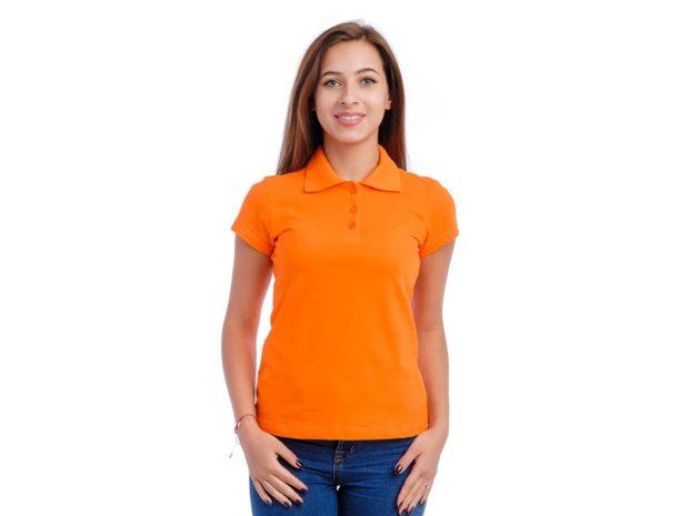 модные футболки 2019 фото: поло оранжевая