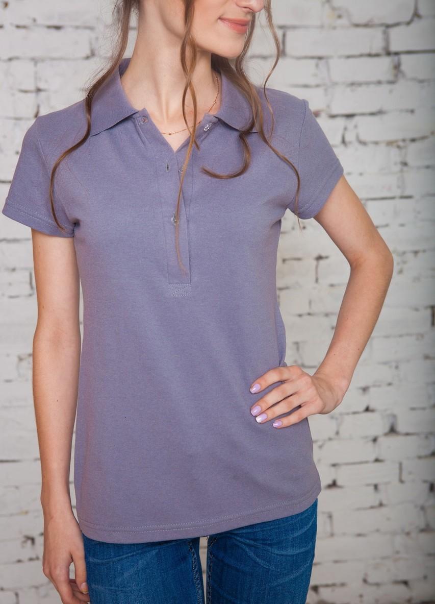 модные футболки 2019 фото: поло фиолетовая