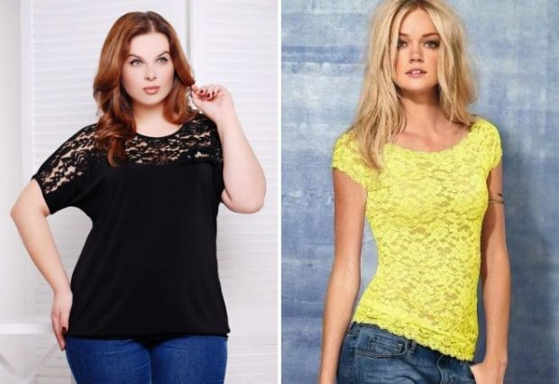 футболки лето 2019 женские: черная и желтая ажурная