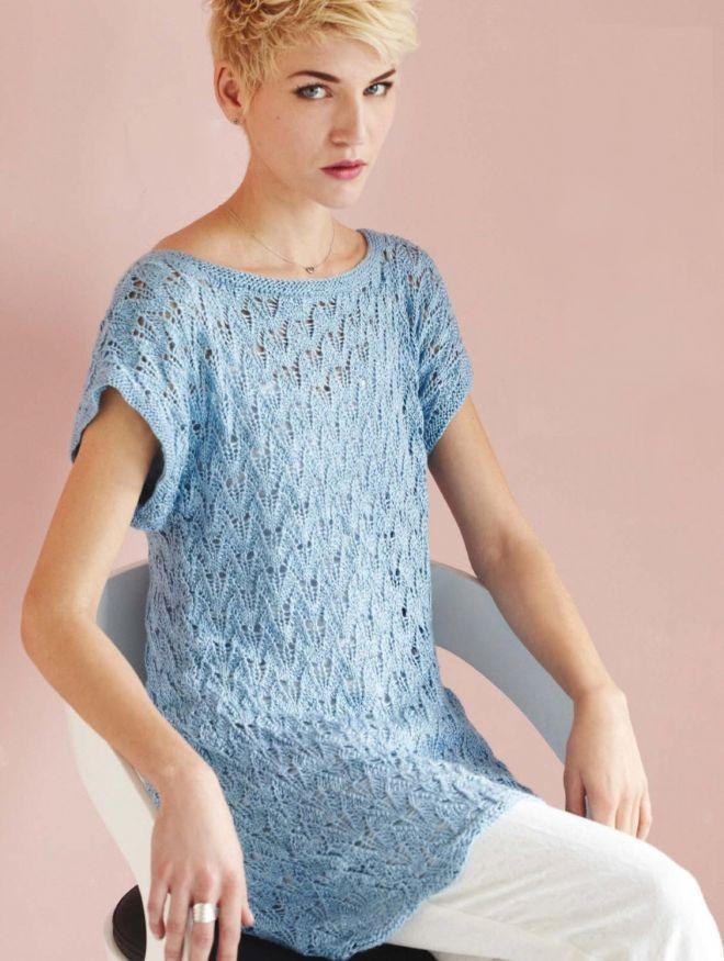 футболки лето 2019 женские: ажурная голубая
