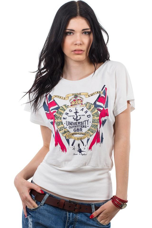 футболки: белая с принтом