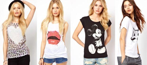 футболки: в принты