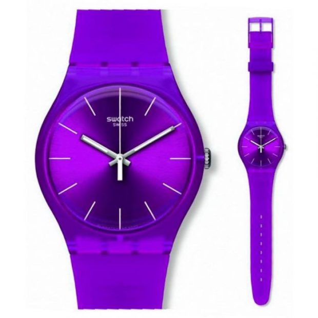 модные часы женские 2018-2019: фиолетовые
