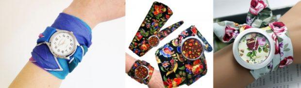 модные часы женские 2019-2020: с платком-ремешком