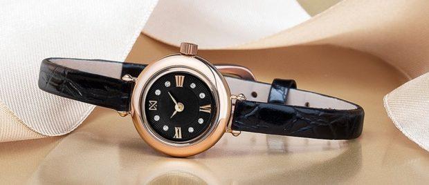 женские часы: миниатюрные кожаный ремень черный
