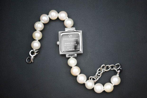женские часы: миниатюрные квадратные ремень из жемчуга