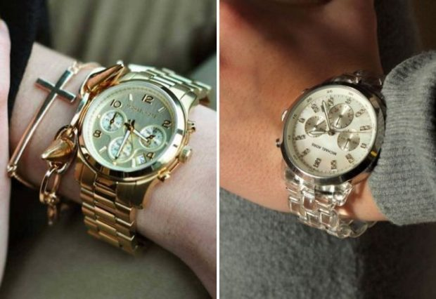 женские часы: массивные