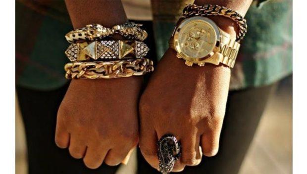женские часы: золотые массивные