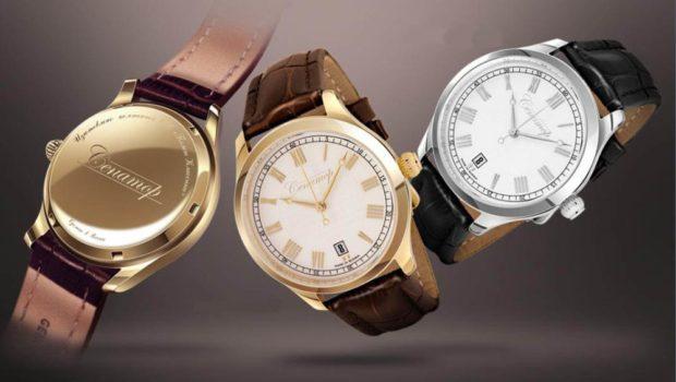 женские часы: классика коричневые черные
