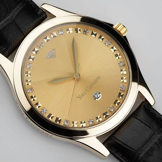 женские часы: классика без цифр ремень черный