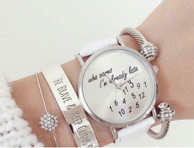 женские часы: многослойный браслет циферблат оригинальный