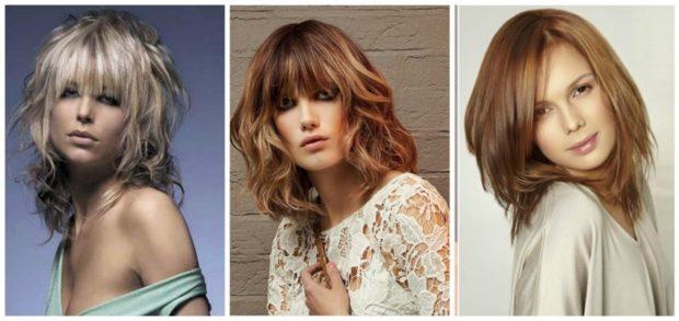 женская стрижка 2018 каскад на среднюю длину волос