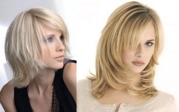 женская стрижка лесенка на среднюю длину волос 2018