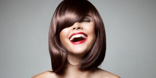 модная стрижка женская 2018 челка косая