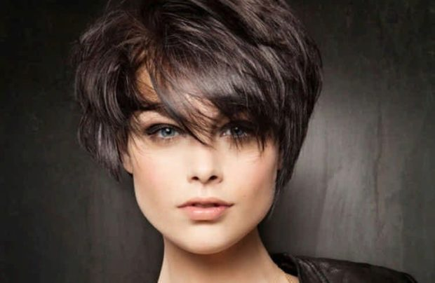 модная стрижка шапочка челка косая для женщин за 30 фото