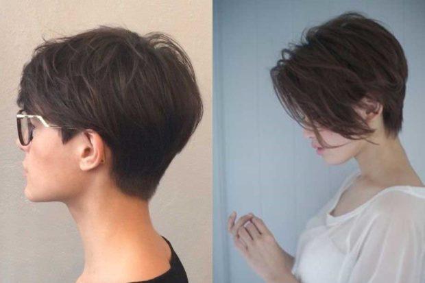 фото стрижка пикси с косой челкой для женщин за 30