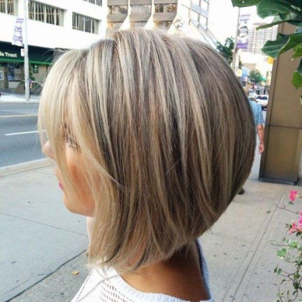 мода 2018-2019 каре удлиненное на короткие волосы для женщин за 30 фото