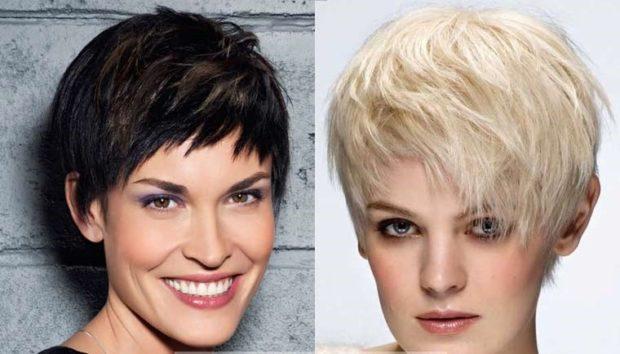 модная стрижка 2018-2019 гарсон рваная челка косая челка для женщин за 30 фото