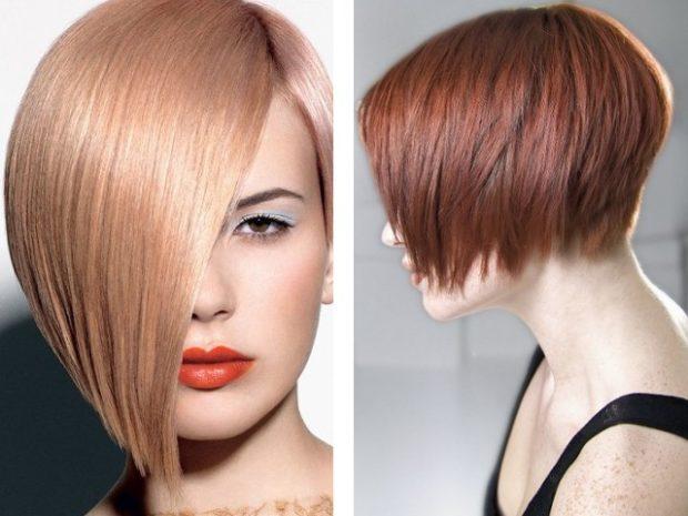 стрижка 2018-2019 боб косая челка без челки для женщин за 30 фото