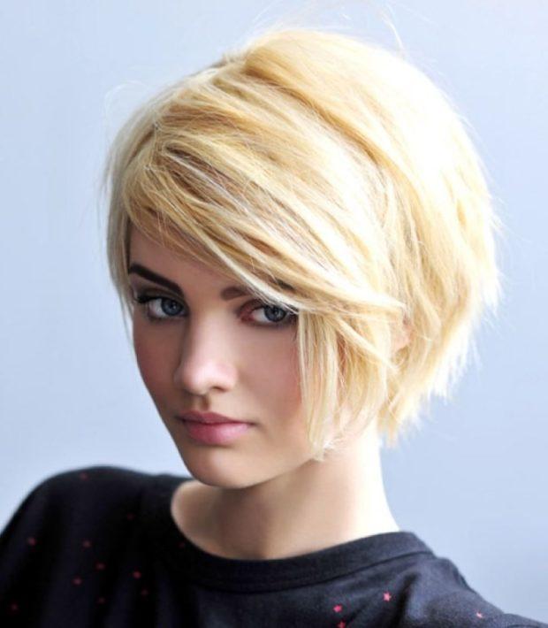 модная стрижка боб косая челка для женщин за 30 фото