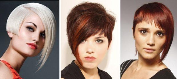 стильные стрижки асимметрия на короткие волосы для женщин за 30 фото