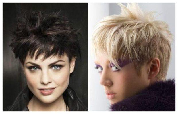 стильные стрижки на короткие волосы асимметрия с косыми челками для женщин за 30 фото
