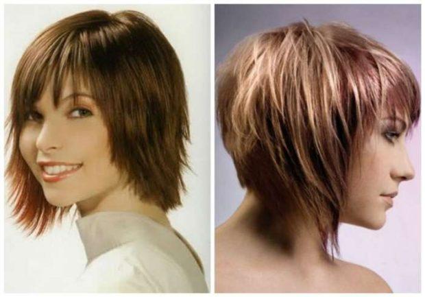 стильные стрижки на короткие волосы асимметрия удлиненная для женщин за 30 фото