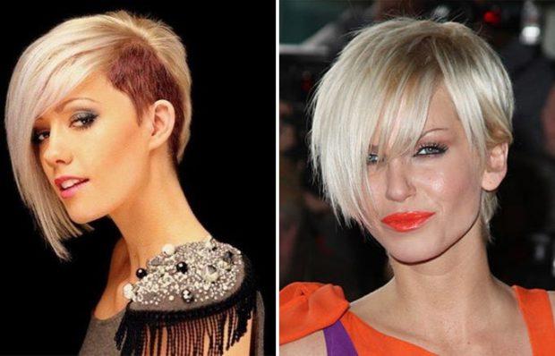 фото стильные стрижки на короткие волосы асимметрия с удлиненной челкой для женщин за 30