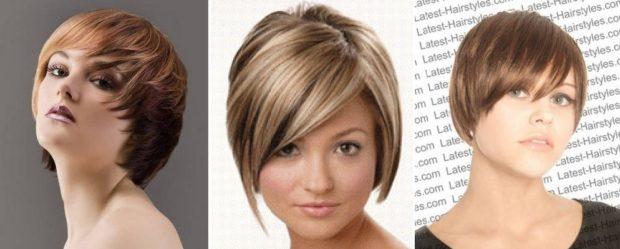 стильные стрижки на короткие волосы асимметрия короткая с косой челкой для женщин за 30 фото