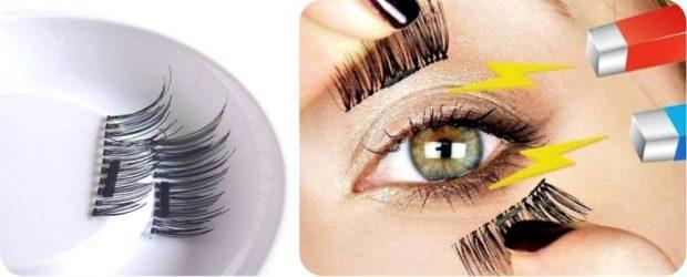 False eyelashes on magnets how to hold on
