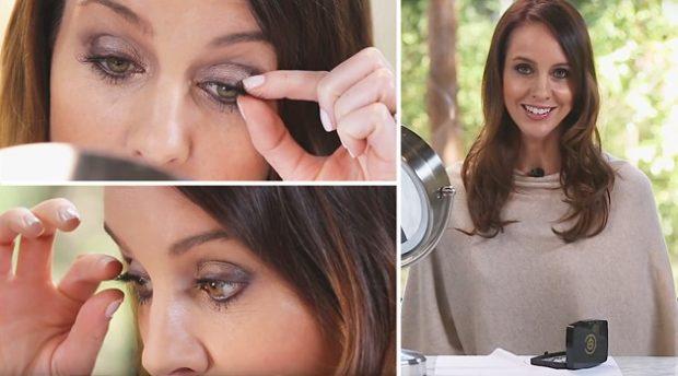 False eyelashes on magnets how to stick